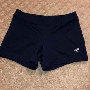 varsity navy blue cheer spandex shorts